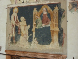 Sant'Anastasia - left transept - early 15th-century fresco by Boninsegna