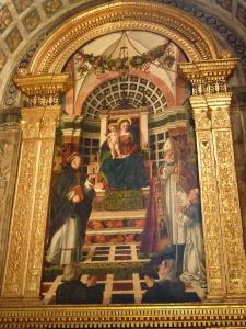 Sant'Anastasia - Centrego Altar (1488-1502) - painting by Girolamo dai Libri
