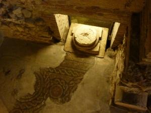 Mosaic floor from the Roman church (4th century)