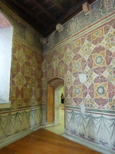 Castelvecchio - frescoed room in the castle