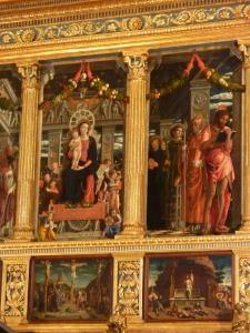 San Zeno - main altar - detail of the altarpiece