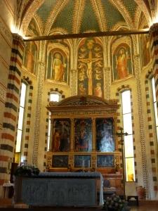 San Zeno - altar and wooden altarpiece