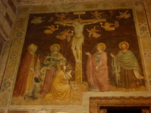 San Zeno - fresco of the crucifixion from the second half of the 14th century