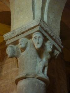 San Zeno - crypt - the capital of each pillar had a unique design
