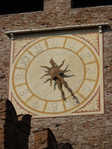 Castelvecchio - clock on the tower