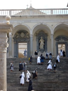 I loved these nuns climbing the steps to the cathedral.