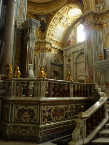 Stairs leading behind the high altar
