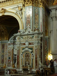 Near the cathedral high altar
