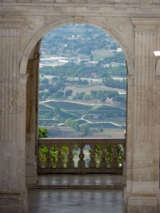 View from the Bramante Cloister