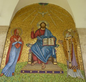 Mosaic in the entrance cloister