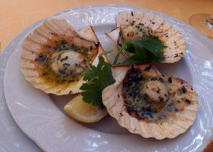 Da Ignazio - Charlie's scallops (photo by C. Gehringer)