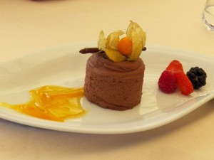 Valharona chocolate mousse (photo by C. Gehringer)