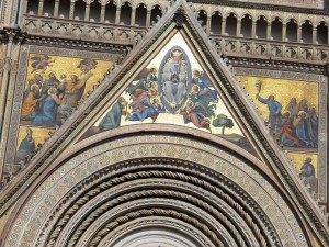 Mosaic over the main exterior door