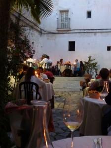 The terrace at Gli Archi