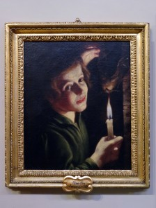 """Boy Holding a Bat,"" by Maestro Jacomo (Pamphilj Gallery) - I'd never heard of this painter, but I love his light and shadows)"