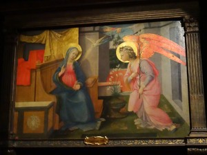 """Annunciation,"" by Filippo Lippi - I wish you could see these brilliant colors!"