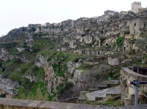 The oldest section of Matera (in Sasso Caveoso) - mostly uninhabited now