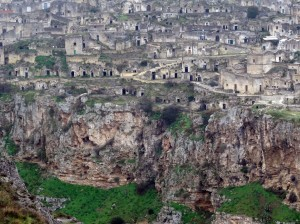 From across the Gravina - the oldest section of Matera