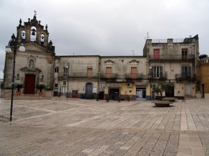 Main square in Montescaglioso in Basilicata - doesn't it look like a movie set?