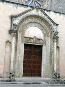 Galatina - door of Chiesa Santa Caterina d'Alessandria
