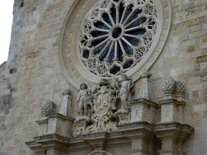 Otranto cathedral - carving over the entrrance