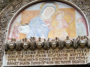 Detail above the door to the Chiesa dei Santi Niccolo e Cataldo