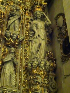 Detail from an altar in the Chiesa di Santa Chiara