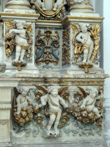 Detail of an altar in Chiesa di Sant'Irene