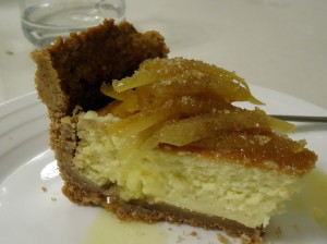 Lemon cake with candied lemons at Ristorante Francesca in Matera